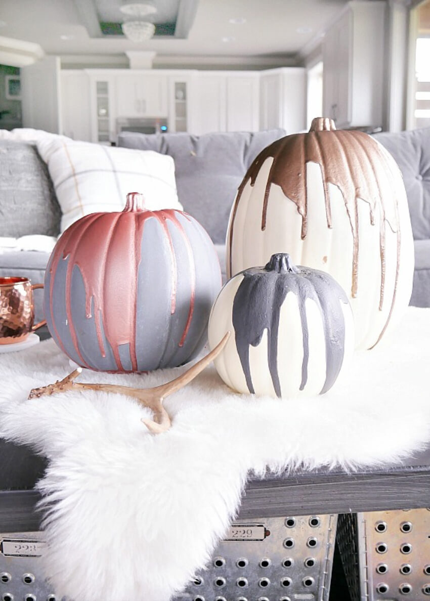 These modern pumpkins will bring style to your home!