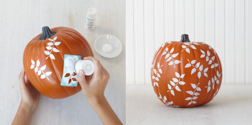 Stenciled pumpkins are super easy to make!