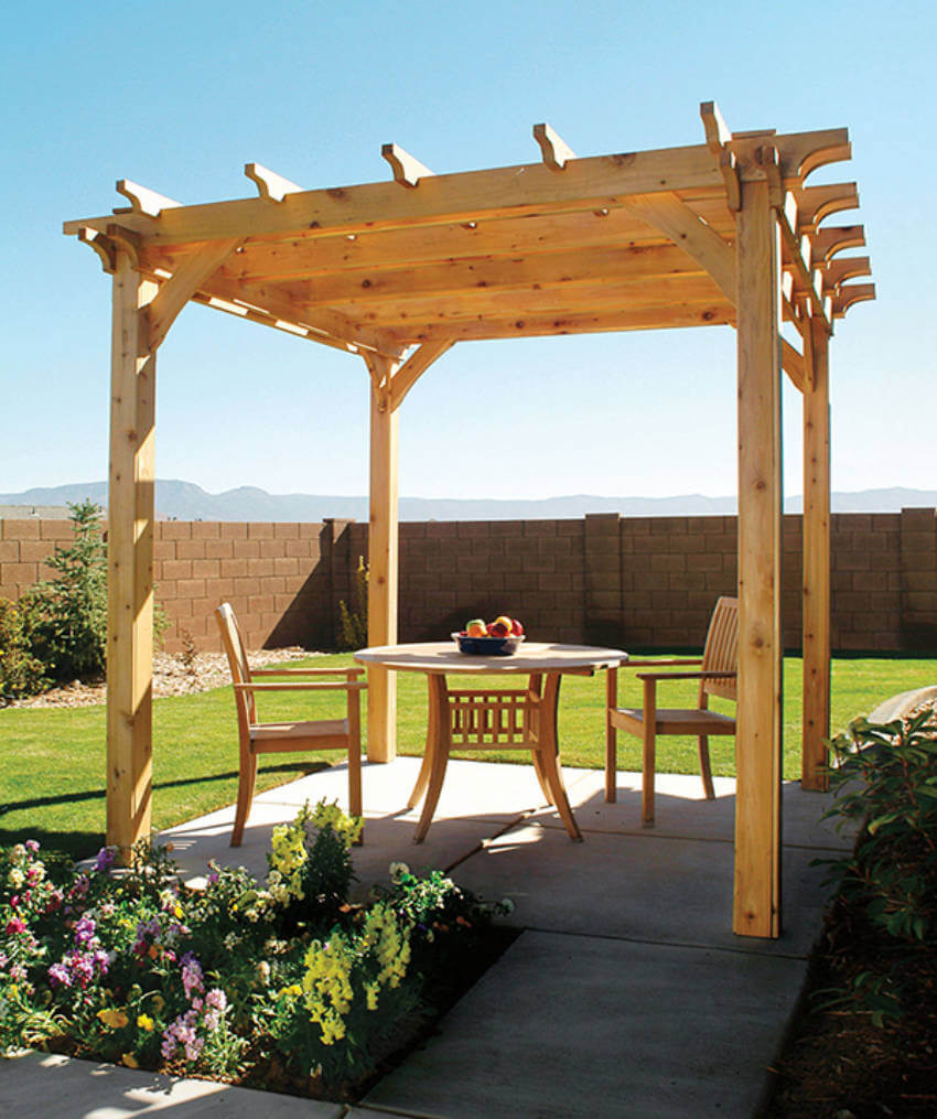 A pergola adds style to your patio!