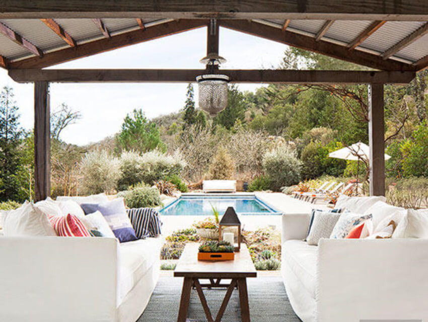 A simple roof will make every day worthy of some time outdoors.