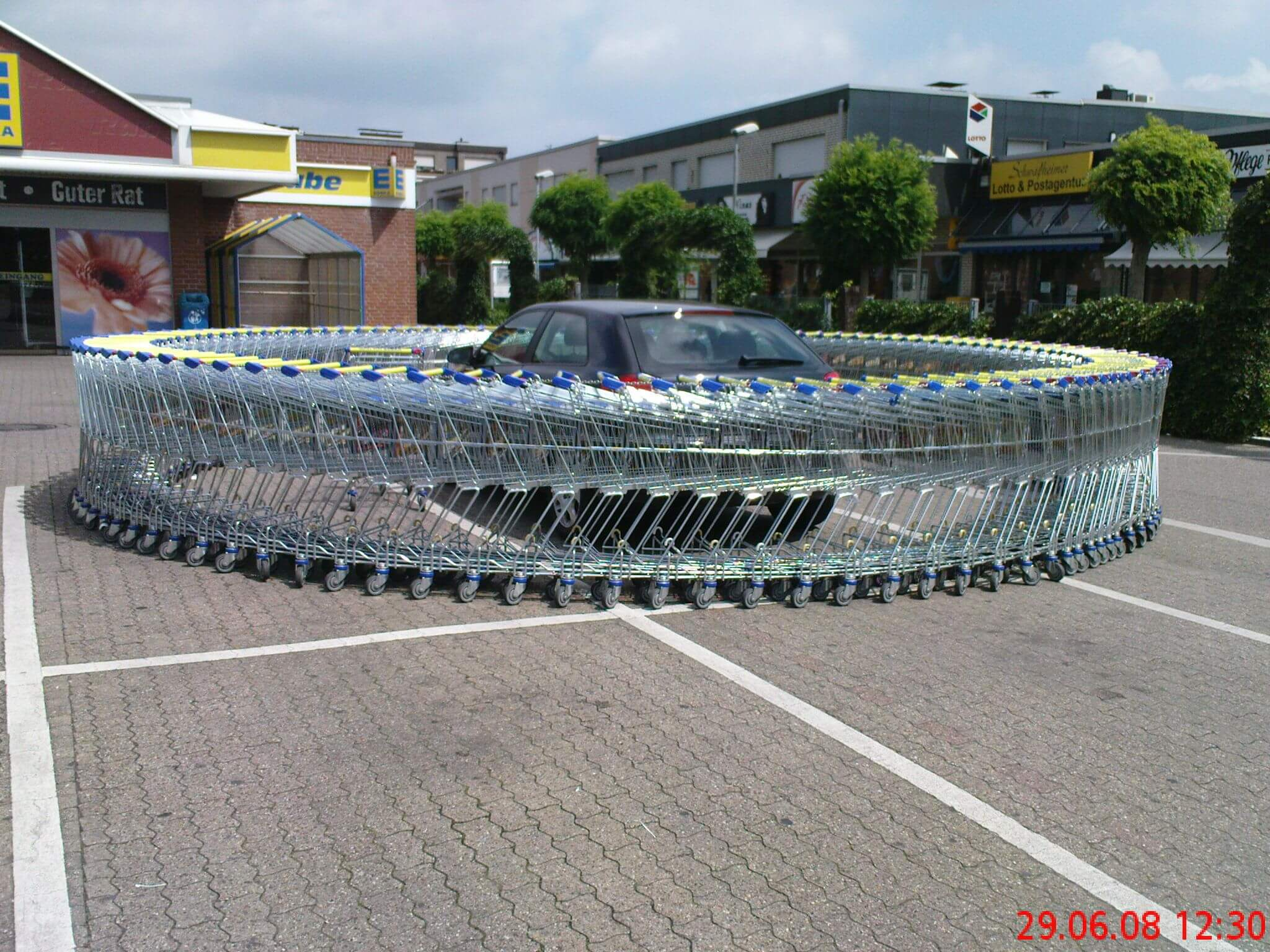 Be wary of parking like a jerk, lest the circle of carts gets you next.