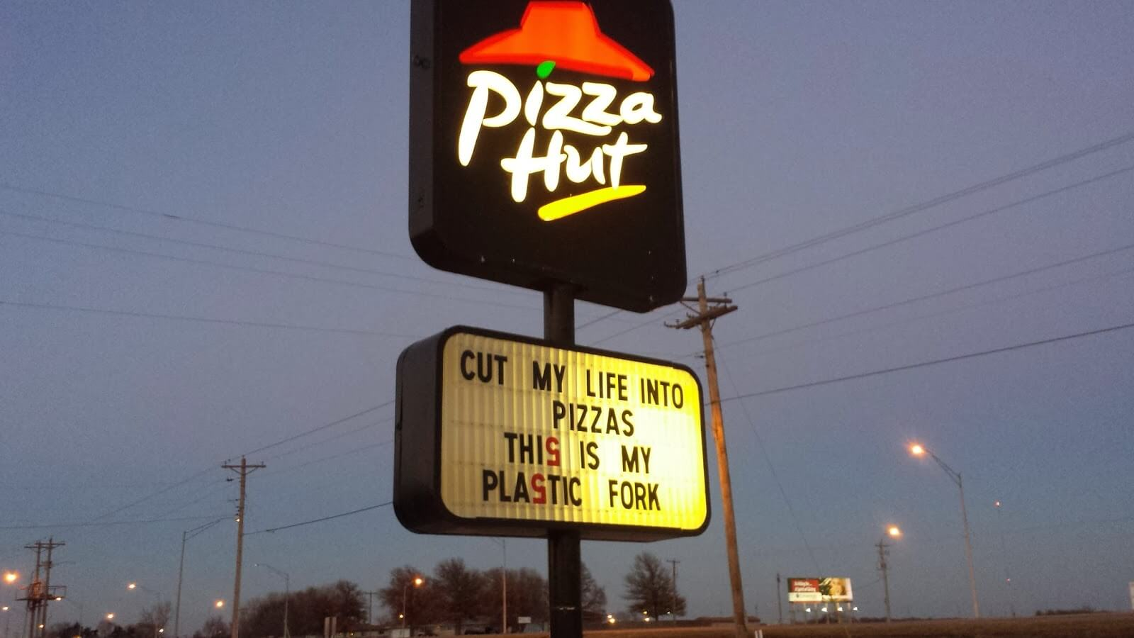 Even the pizza guys have a sense of humor