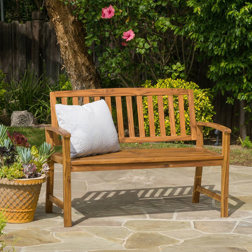 Wooden benches are great for some outdoors family time!