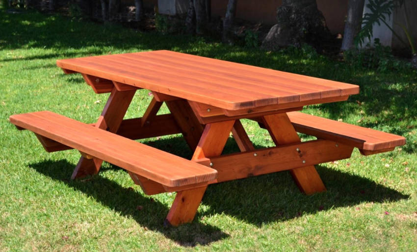 A sturdy picnic table for your family and friends!