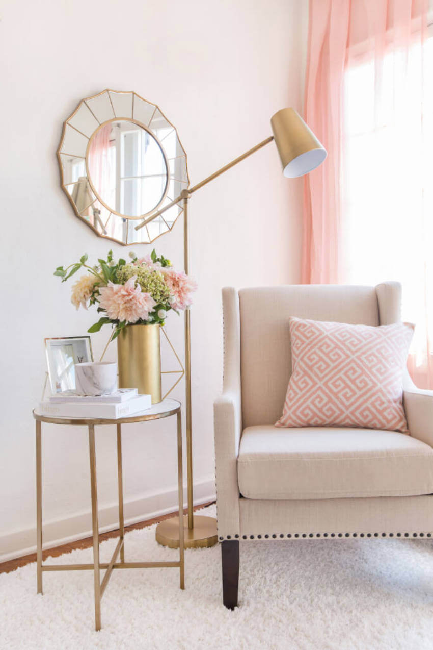 Curtains make a room so delicate - especially when they're pink!