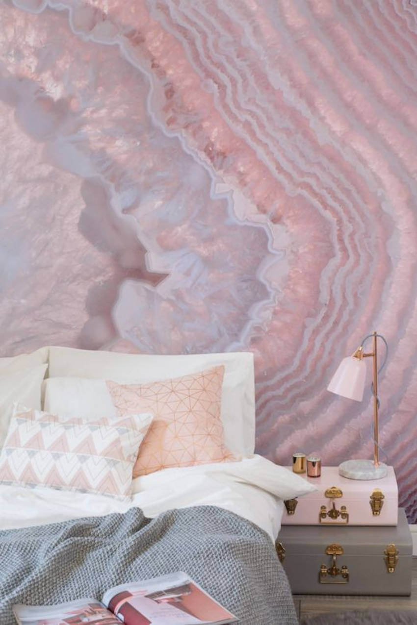 A pink bedroom for adults is possible after all!