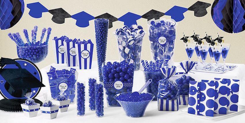 All blue custom celebration decor