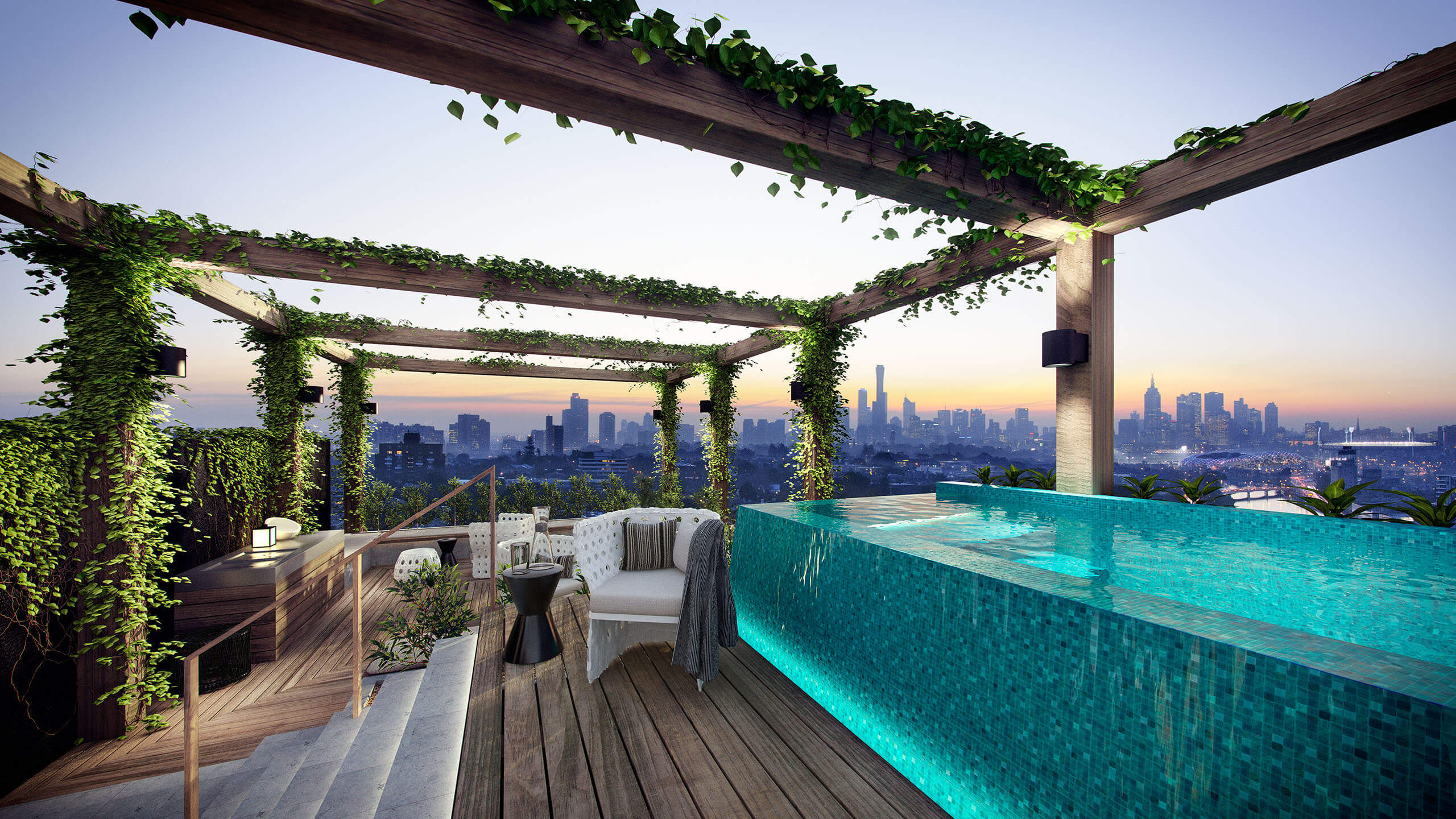 The big showstopper when it comes to outdoor swimming pools