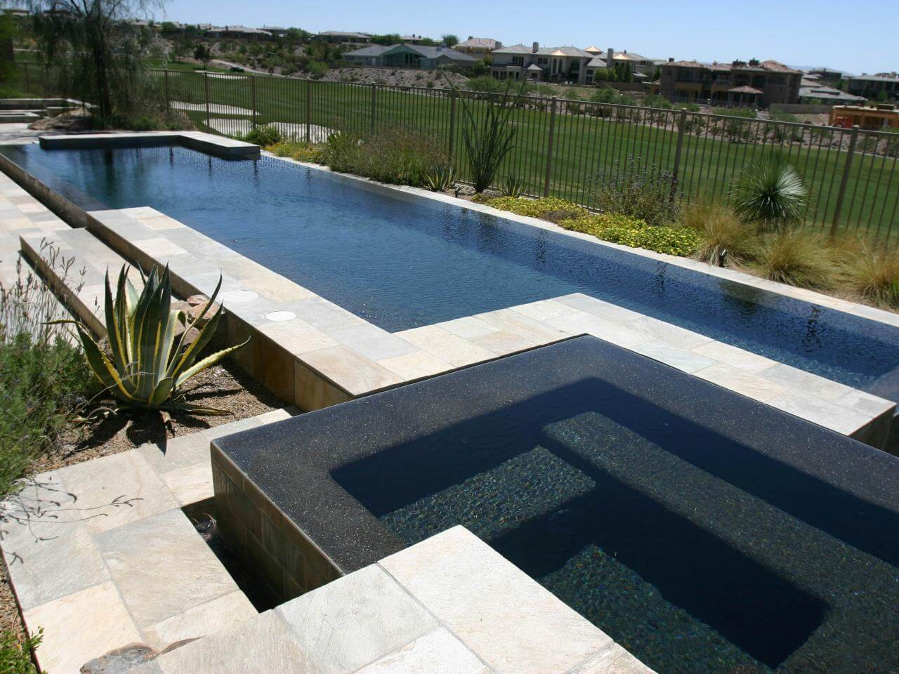 Look at all the amazing features a pool can have