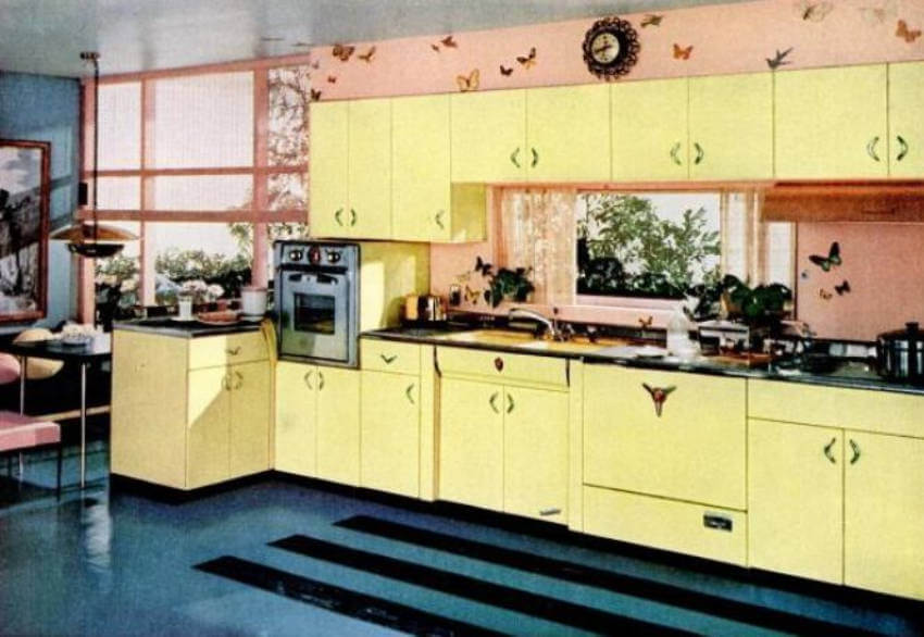 The 1950s had an optimistic look that things will work out with a cheery, soft yellow!