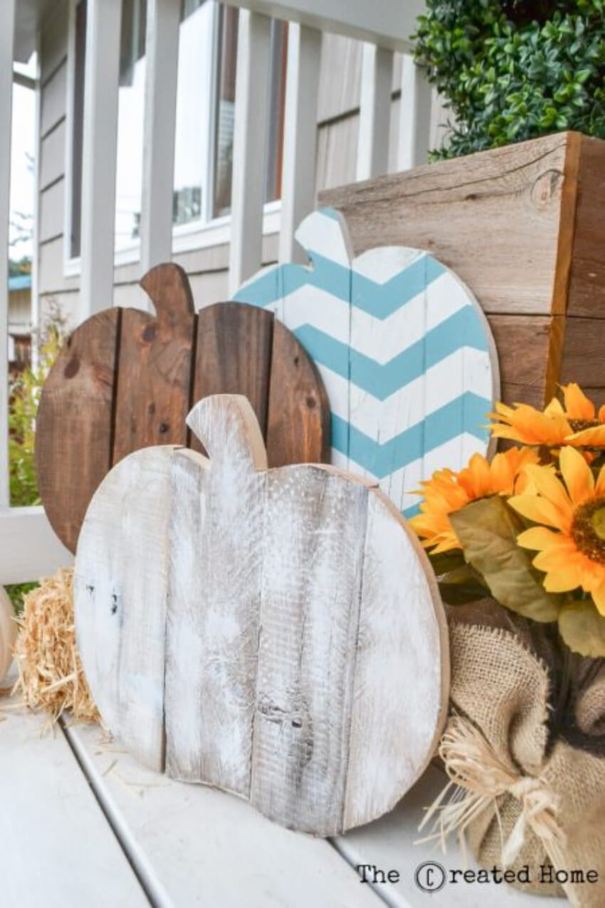 The rustic look will make your fall decorations even more interesting.