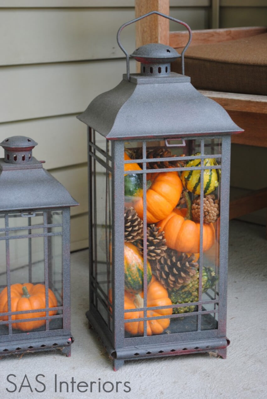 Lanterns will make your porch feel more inviting and warm.
