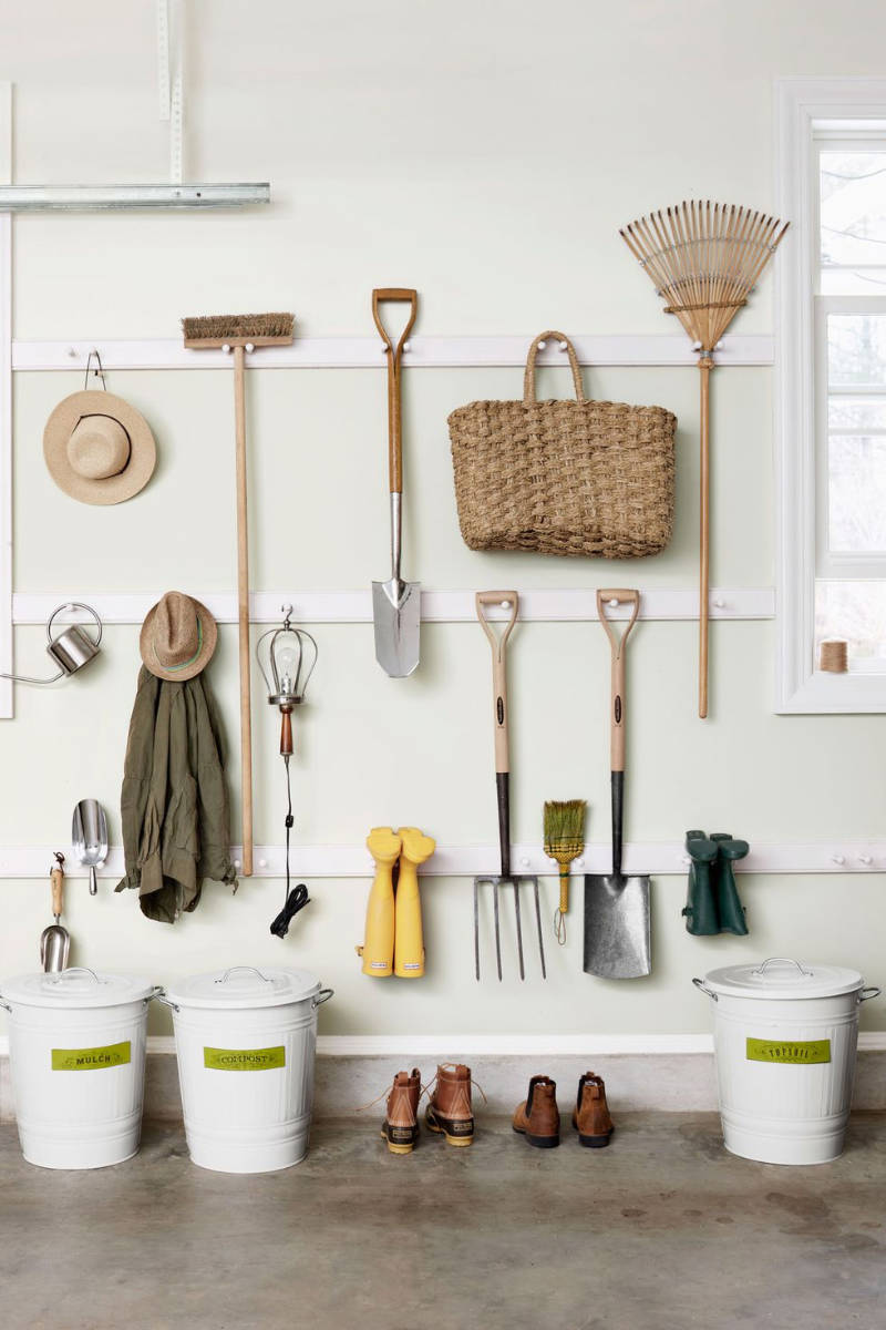 A simple organisation setup for your garden tools.
