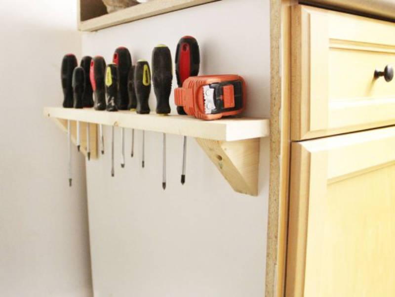Everyone needs a decent screwdriver storage.