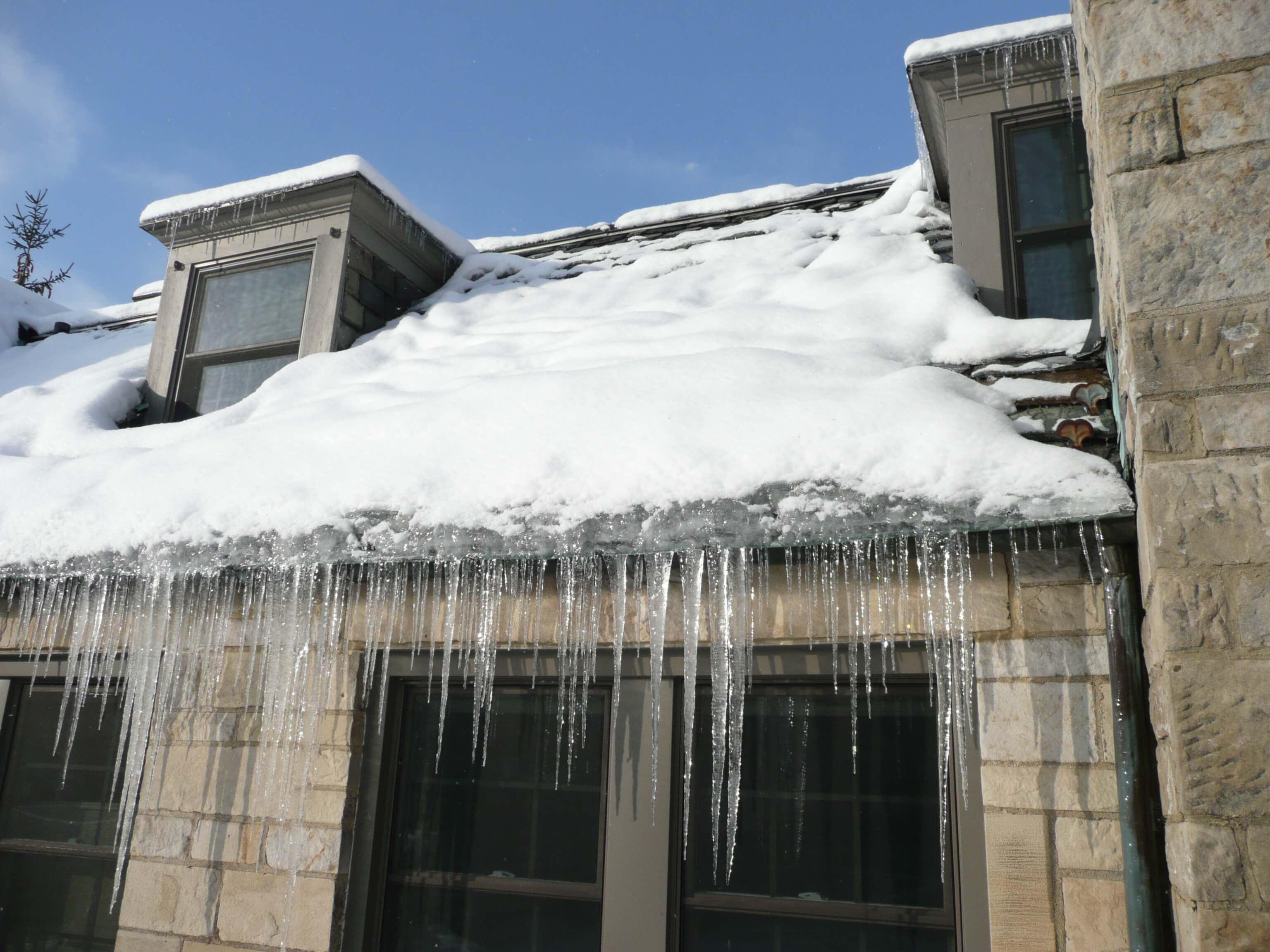 Ice dams can potentially harm your home's interior