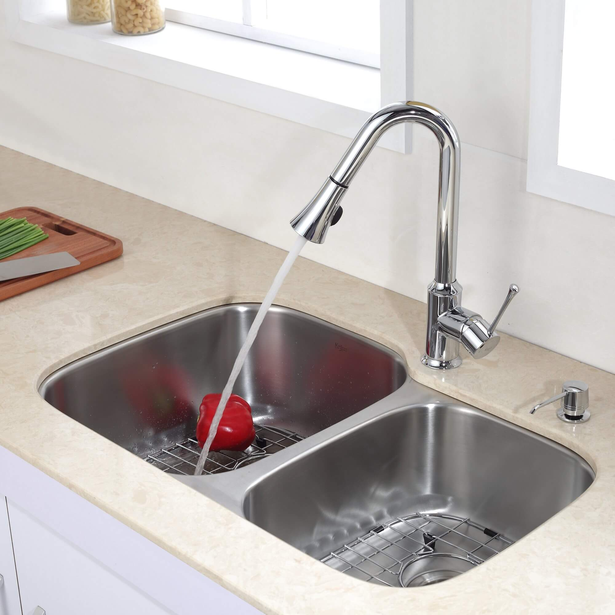 The PSI of your faucet should also not dip too low or problems may occur