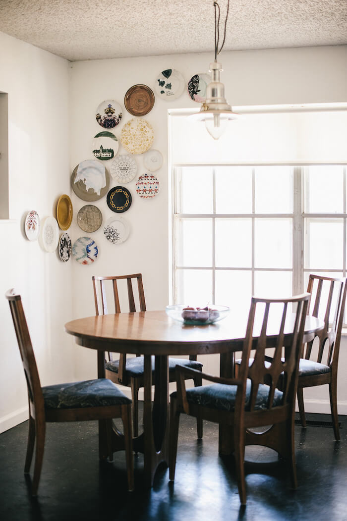 Plates can double as both tableware and decor