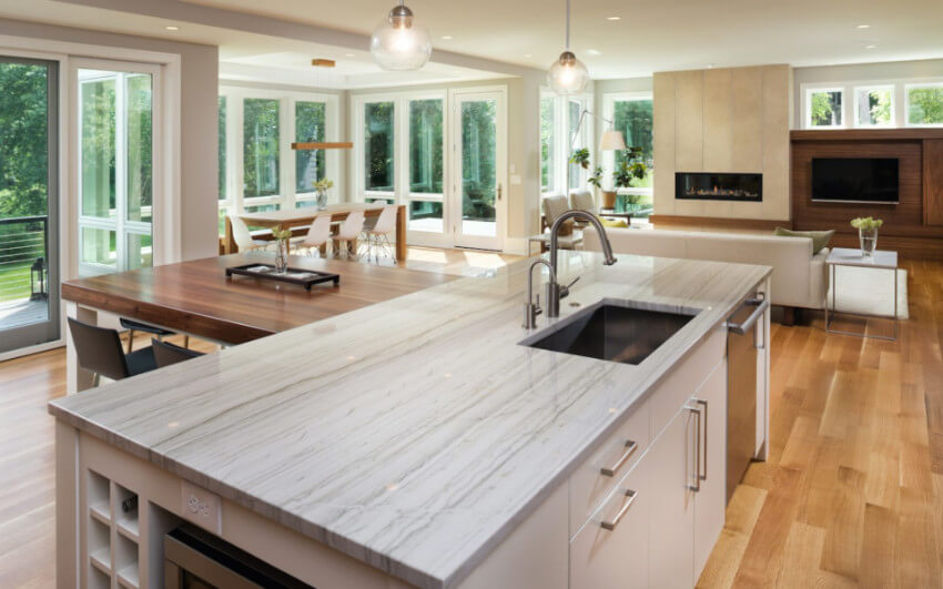 Quartz is beautiful and durable.