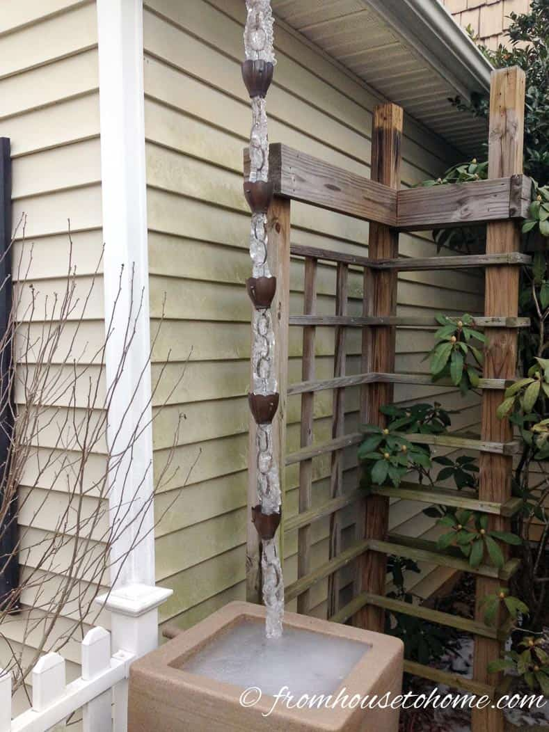 Here's what rain chains can do for your home