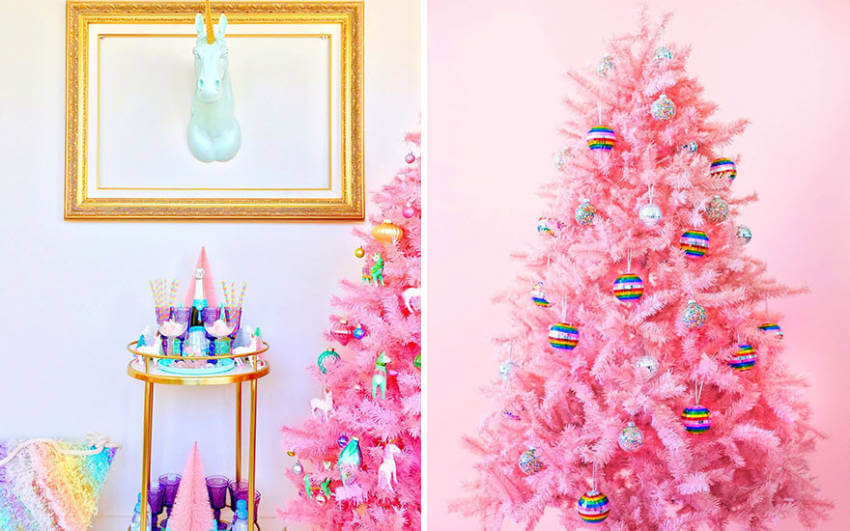 Couldn't skip a colorful Christmas tree.