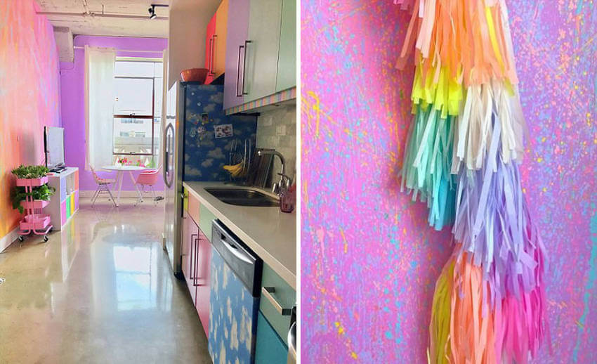 Gorgeous details from the rainbow kitchen!