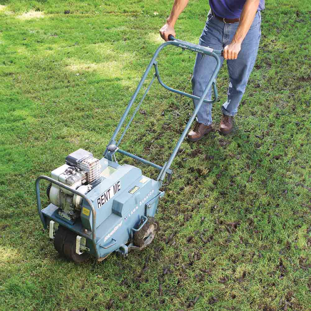 The mechanized lawn aerator