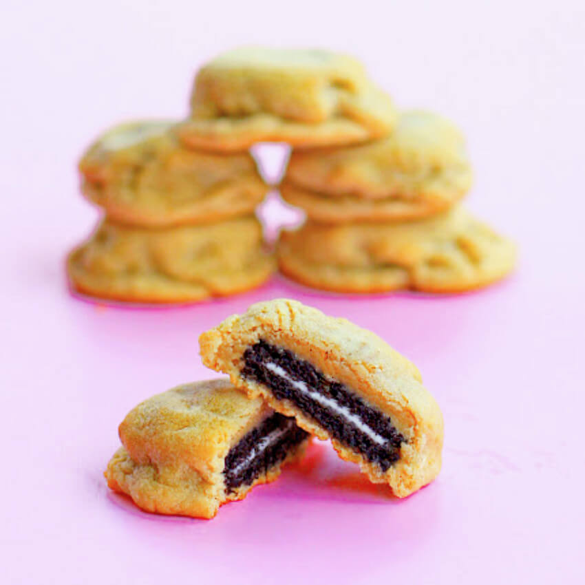 Create a delicious cookie inception with this Oreo-stuffed cookie recipe!