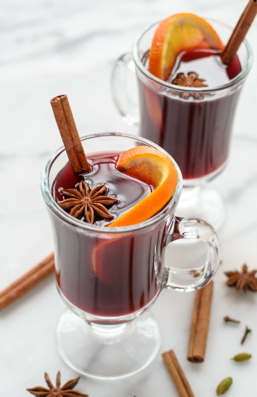 Mulled wine is also a great holiday hit!