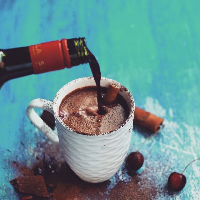 Spiced wine is perfect for wine hot chocolate!
