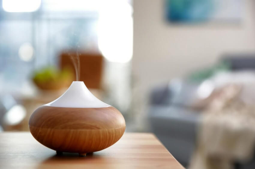 You can use an essential oil diffuser to freshen up your home.