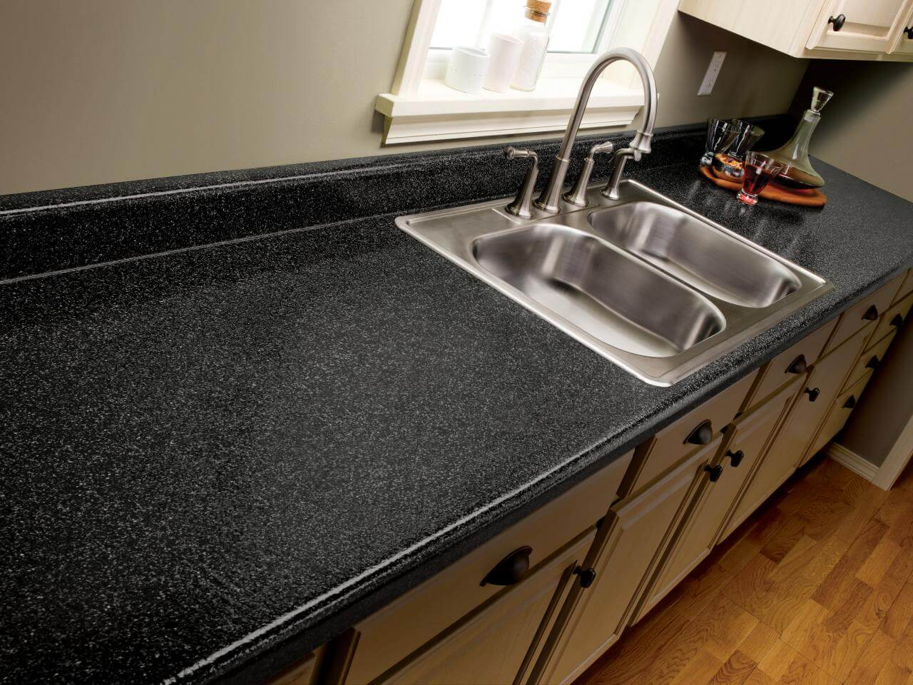 Laminate countertops are very easy to clean