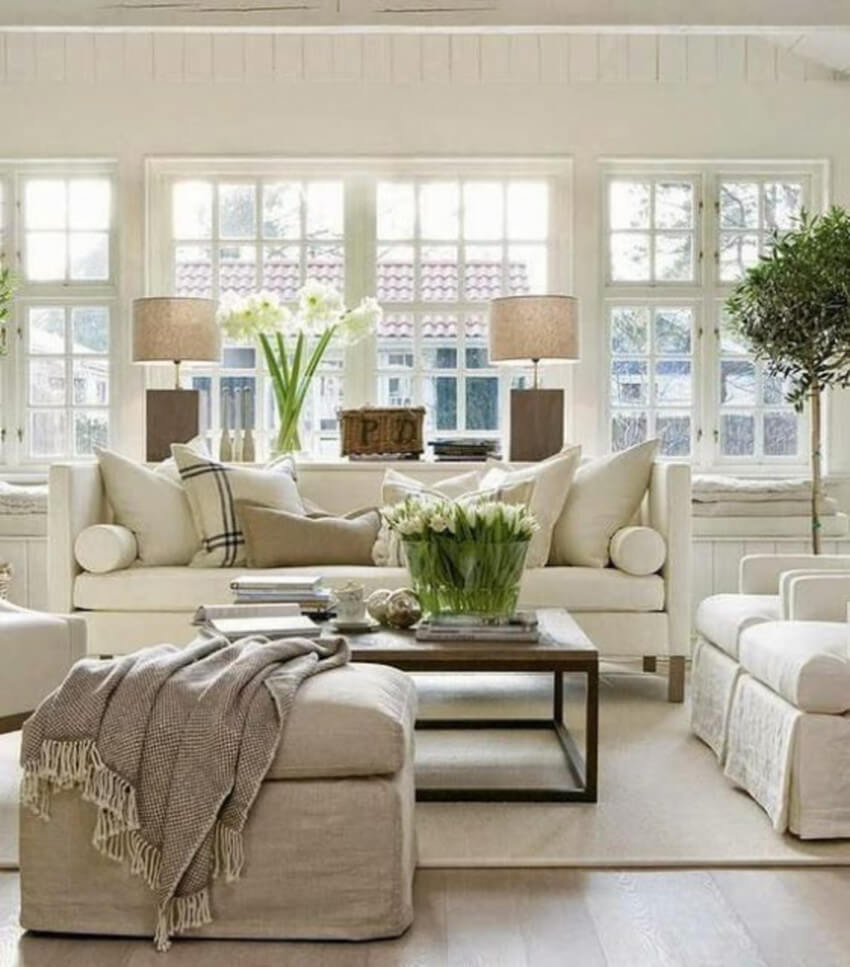 Add character with decor elements while keeping it simple.