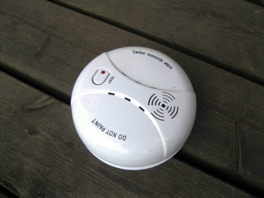 A carbon monoxide alarm will help know when there's risk of poisoning.