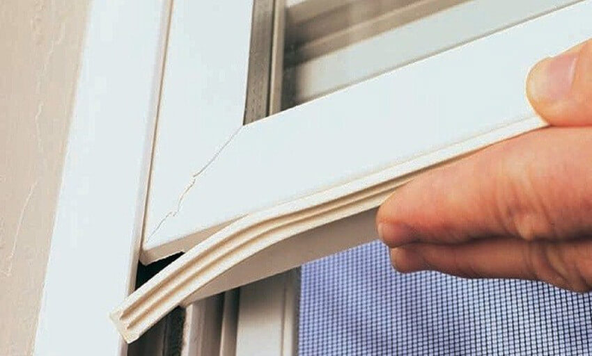 Sealing the windows and doors is very important to avoid wasting energy.