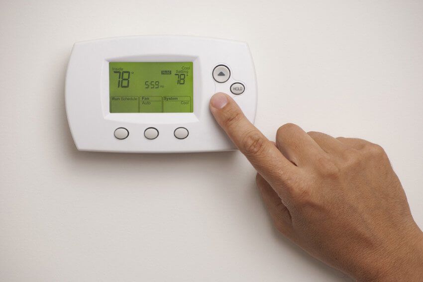 Use a programmable thermostat to increase temperature when you're not home