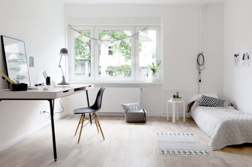 Keeping it minimal is a trait of the Scandinavian decor style.