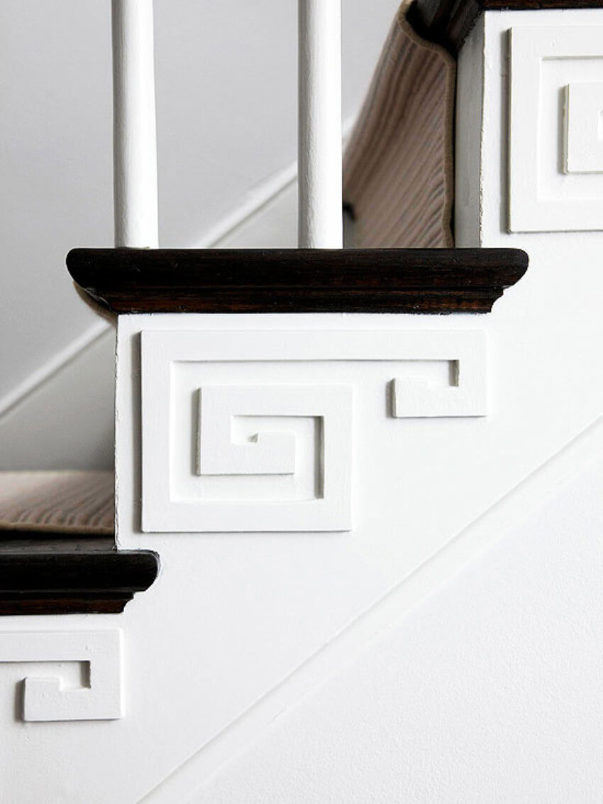 Make your stairway fancy with a simple decor.