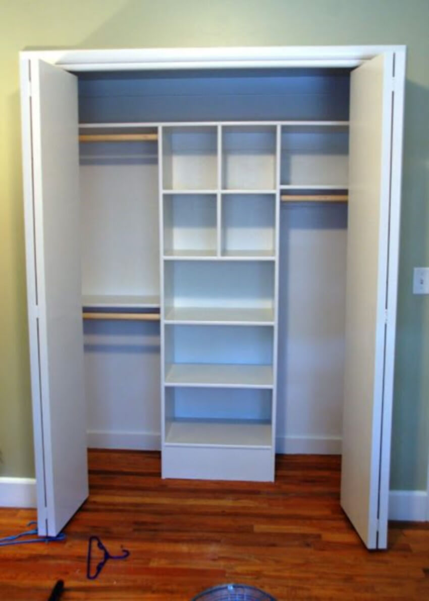 Shelves are practical and easy to use.
