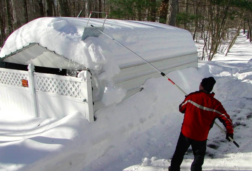 Too much snow on your roof can make it collapse.