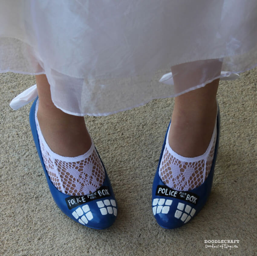 These awesome shoes are perfect to express your love for the show!