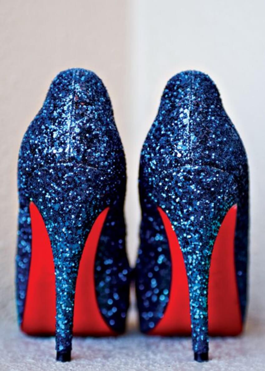 Glitter shoes rule!
