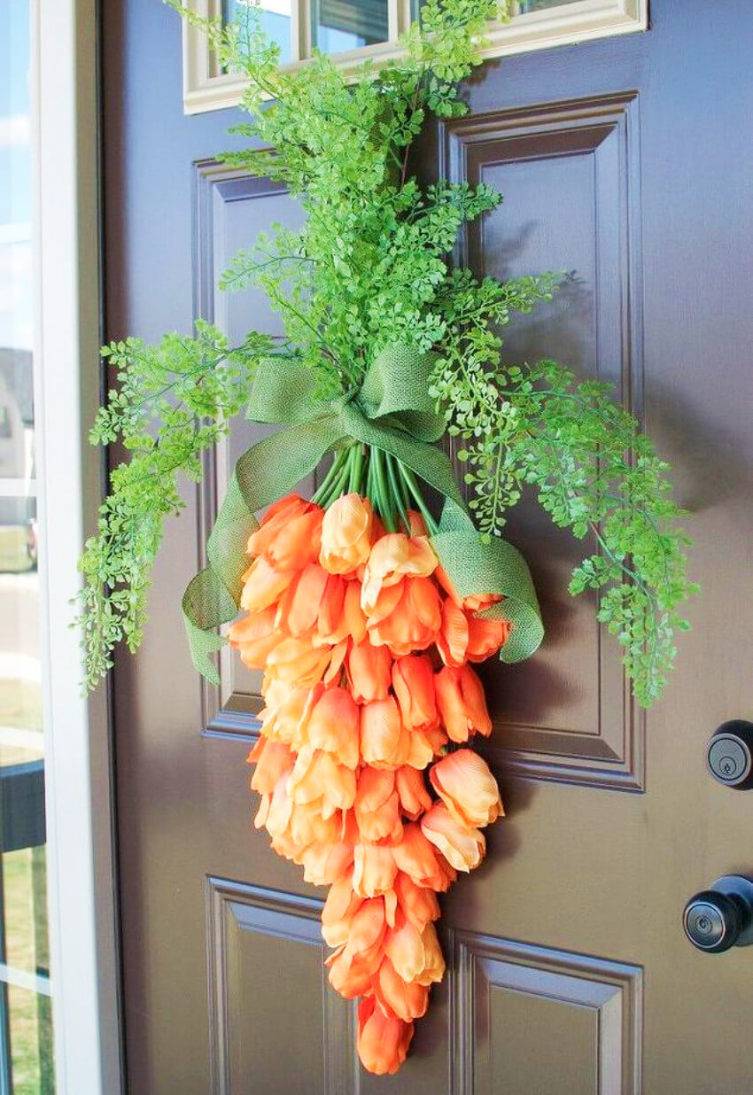 A flower carrot wreath is really unique and fun to make!