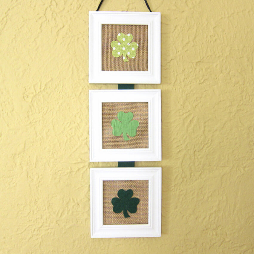 Simple clover art does the job well in festive decorating!