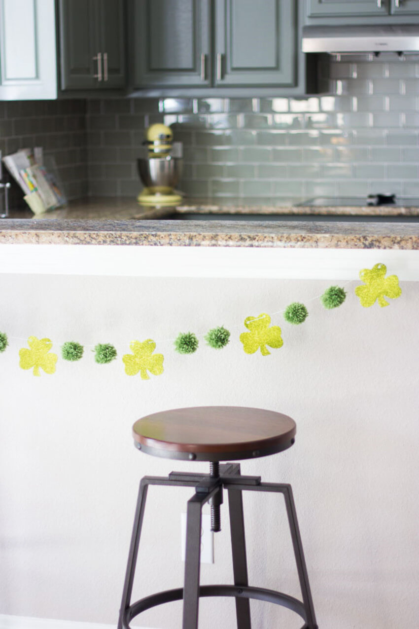 Garlands are simple and beautiful.