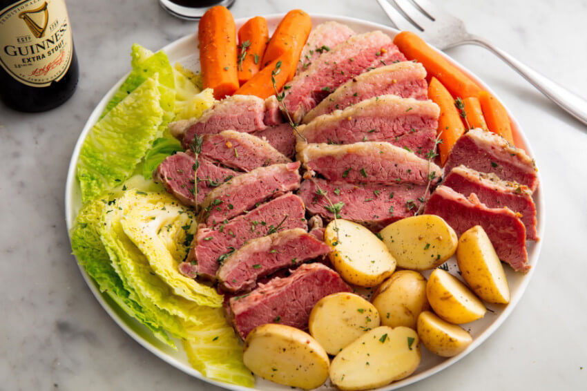 Corned beef and cabbage is a must!