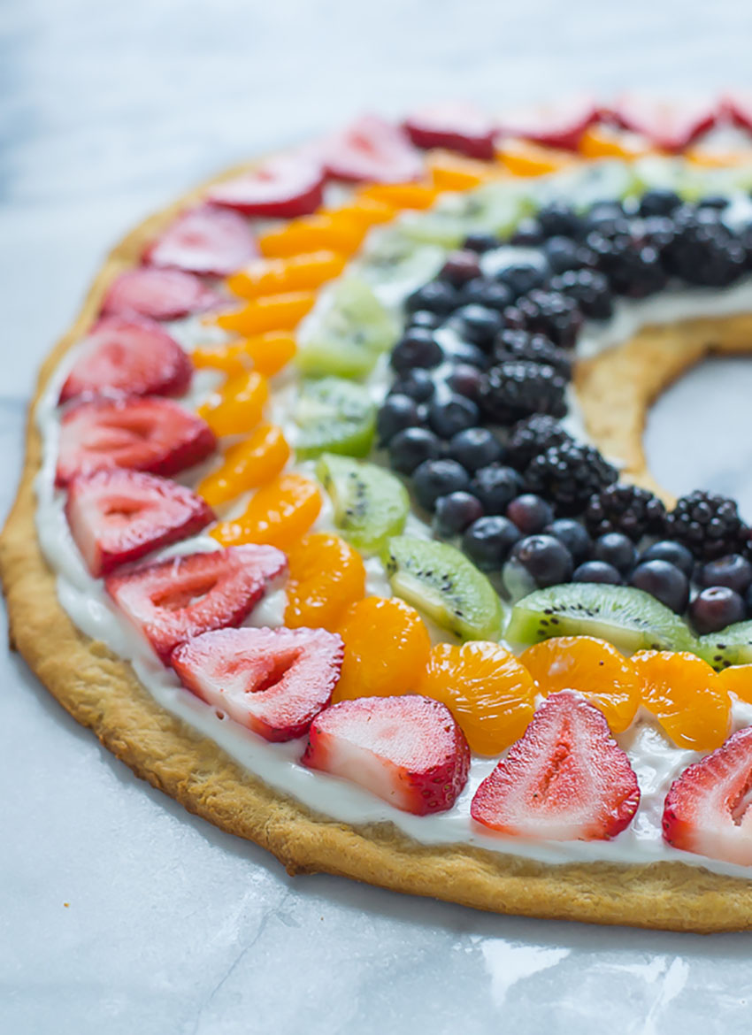 This fruit pizza pleases everybody that tries it!
