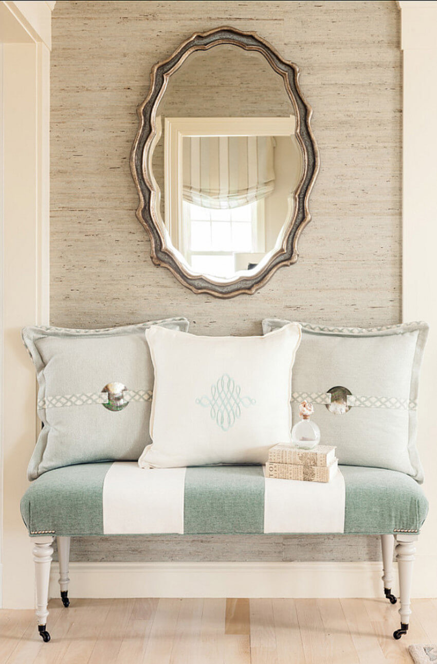 Using neutral colors and a mirror will make your entryway gorgeous!