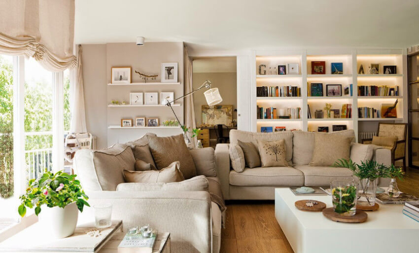Neutral colors make a cozy vibe for the home!