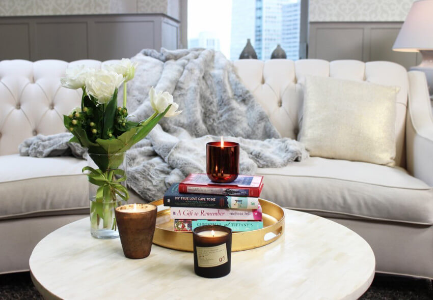 Scented candles will do the trick just fine!