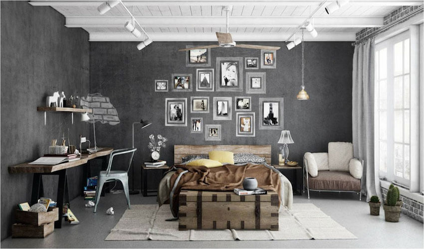 If you don't want to pay to have your walls torn down to expose the brick under it or pay to have new brick walls installed, simply grab some paint and create the effect of faux exposed brick walls.